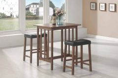 Coaster 130004 3Pc Counter Height Set