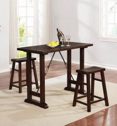 Coaster 130530 3Pc Counter Height Set