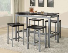 Coaster 150095 Casual Metal Five Piece Dining Set