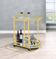 Coaster 181050 Traditional Brass Serving Cart