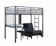 Coaster 2209 Jenner Futon Twin Workstation Loft Bed