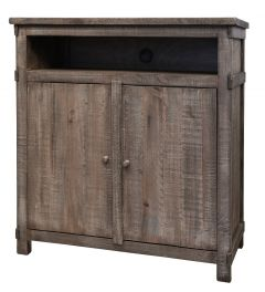 International Furniture Direct IFD380CHEST-TV San Angelo 2 Door Media Chest