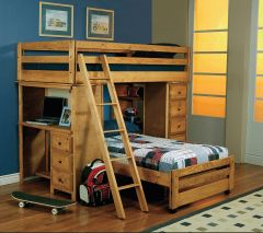 Coaster 460141 Wrangle Hill Twin/Twin Workstation Loft Bed