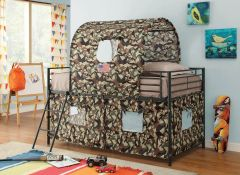 Coaster 460331 Camouflage Tent Loft Bed