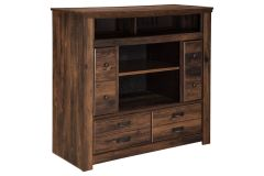 Ashley Furniture B246-49 Quinden Media Chest w/Fireplace