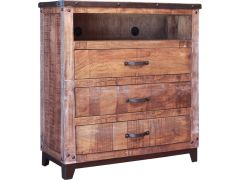 International Furniture Direct IFD766CHEST-TV Maya Multicolor Bedroom 3 Drawer Media Chest