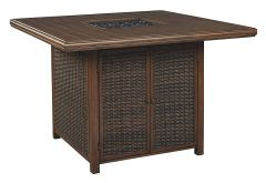 Ashley Furniture P750-665 Paradise Trail Square Bar Table w/Fire Pit